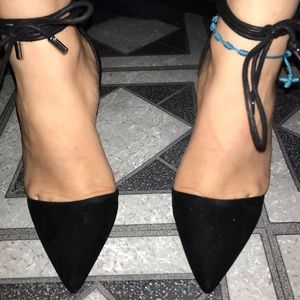 Forever 21 tie up pointy heels!
